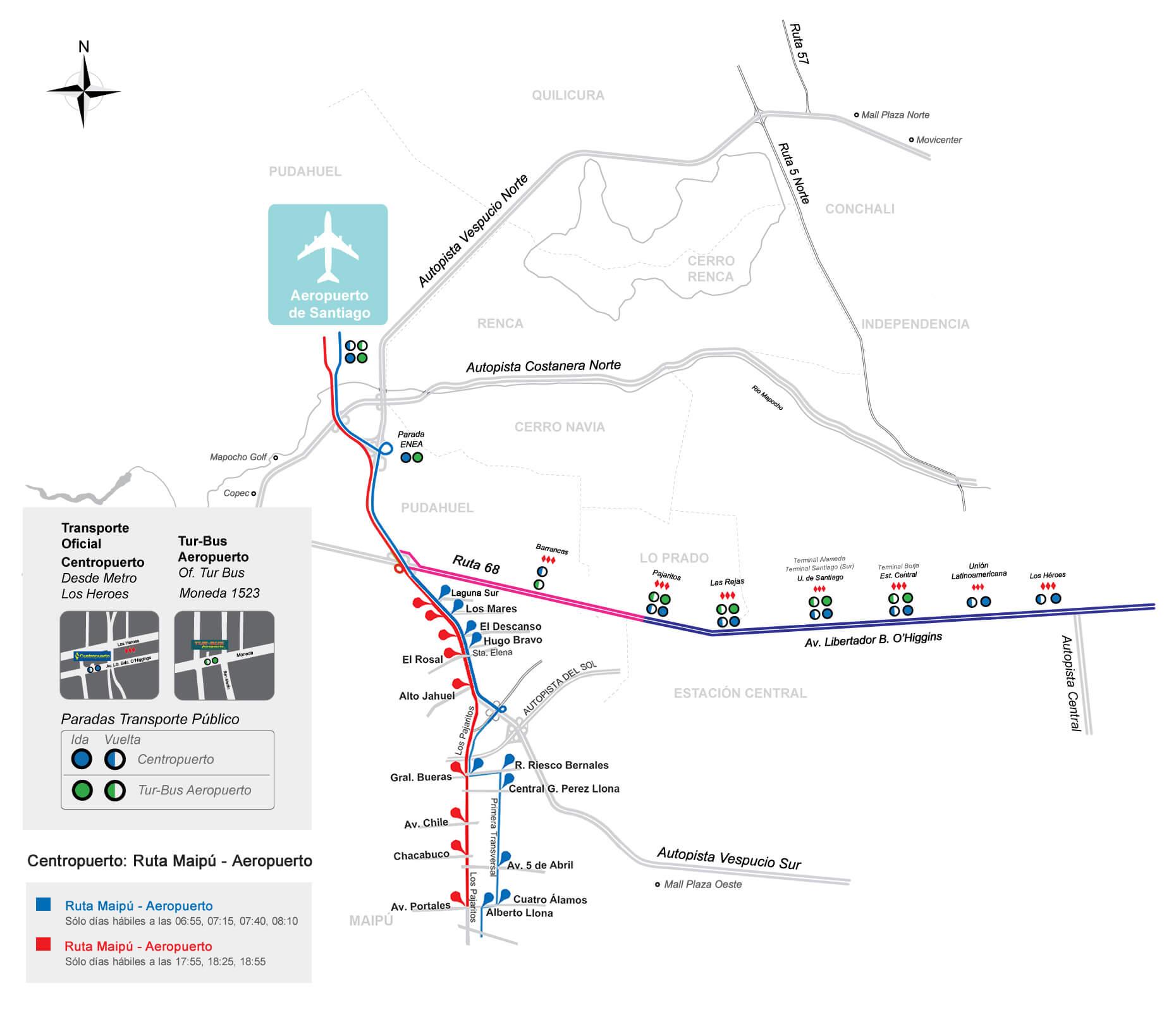 Plano Del Aeropuerto Nuevo Pudahuel